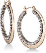 Nine West Pave Double-Row Hoop Earrings