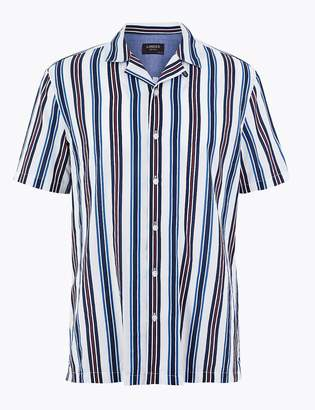 Marks and Spencer Cotton Striped Shirt