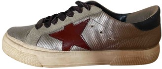 Golden Goose May Silver Fur Trainers