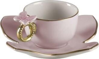 Villari Butterfly Coffee Cup Saucer Set