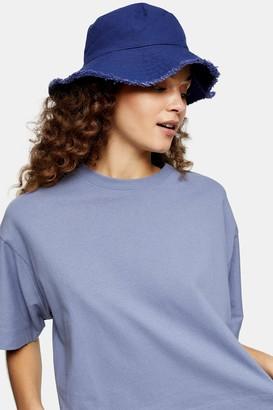 Topshop Navy Panel Boxy T-Shirt