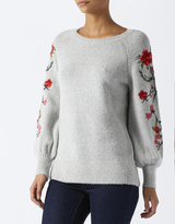 Monsoon Flora Embroidered Sleeve Jumper