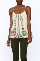 Mes Demoiselles Ivory Embroidered Blouse
