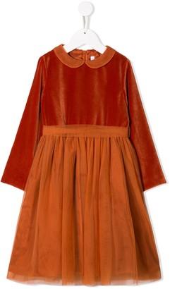 Il Gufo Gathered Layered Dress