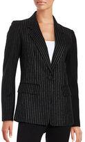 DKNY Pinstriped Wool-Blend Blazer