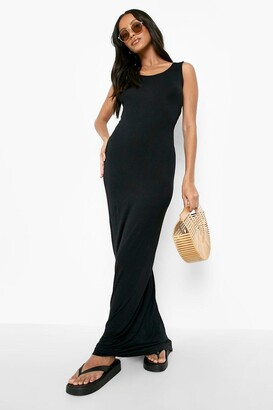boohoo Petite Sandy Scoop Neck Maxi Dress