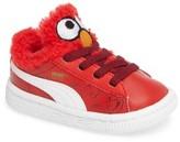 Puma Toddler Sesame Street Basket Elmo Faux Fur Sneaker