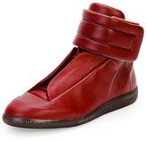 Maison Margiela Future Leather High-Top Sneaker, Bordeaux