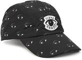 Kenzo Black Eye-print Cotton Cap