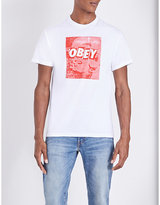 Obey Unusual Activity Cotton T-shirt