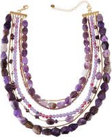 Lydell NYC Semi-Layered Beaded Necklace
