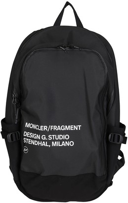 MONCLER GENIUS Black Technical Canvas Backpack