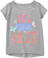 Gymboree Cozy Heather 'Be Your Best' Active Tee - Girls