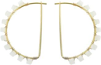 Panacea Crystal Hoop Earrings