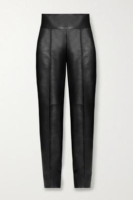 Alexandre Vauthier Leather Slim-leg Pants - Black