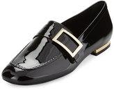 Roger Vivier Patent Leather Buckle Loafer, Black