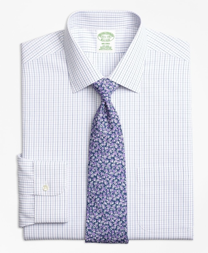 aa70634b05 Purple Windowpane Shirt - ShopStyle