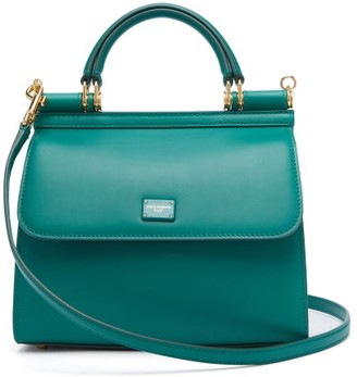 Dolce & Gabbana Sicily Small Leather Bag - Green