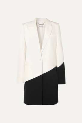 Givenchy Two-tone Wool Blazer - Black
