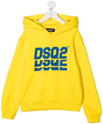 DSQUARED2 Yellow Cotton Hoodie