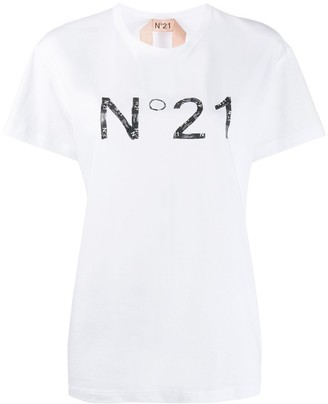 No.21 logo print short-sleeved T-shirt