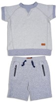 7 For All Mankind Boys' Terry Tee & Shorts Set - Little Kid