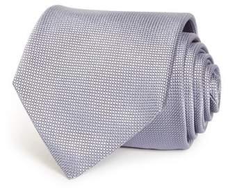 Giorgio Armani Micro Grid Silk Wide Tie