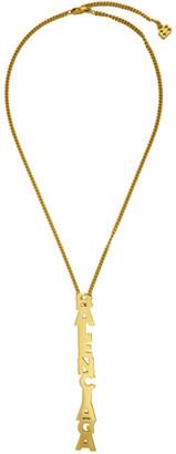 Balenciaga Gold Typo Necklace
