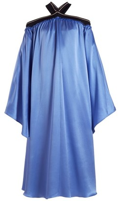 Roksanda Luella Off-the-shoulder Dress - Womens - Blue