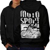 Moto Bike Sport Race Dirt Track Men XXXL Hoodie Back | Wellcoda
