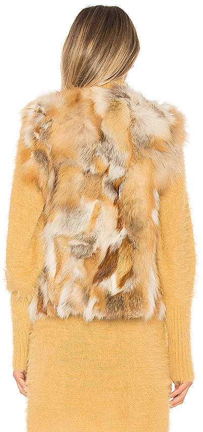 Adrienne Landau Natural Fox Vest