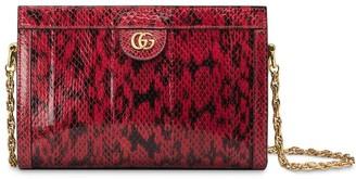 Gucci small snake skin shoulder bag