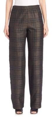 Maison Margiela Side-Button Check Pants