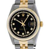 Rolex Datejust 36mm Black gold and steel Watches