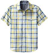 Gap Short-sleeve gingham plaid shirt