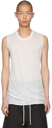 Rick Owens White Basic Sleeveless T-Shirt