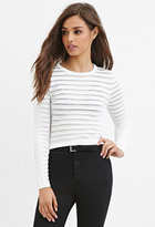 Forever 21 FOREVER 21+ Sheer-Striped Top