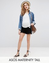 Asos TALL Shorts with Pom Pom Hem