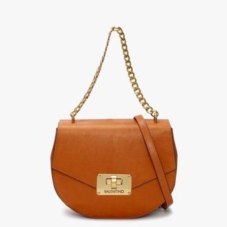 Valentino By Mario Valentino Vostok Chain Tan Leather & Suede Satchel Bag