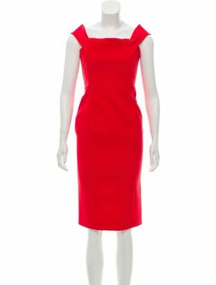 Nicholas Bodycon Knee-Length Dress Red