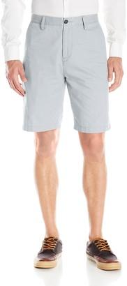 Nautica Mens Cotton Twill Flat Front Chino Short