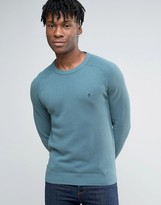 Original Penguin Crew Sweater Honeycomb Texture Knit in Blue