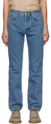 Séfr Blue Straight-Cut Jeans