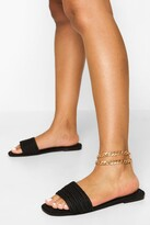 Thumbnail for your product : boohoo Espadrille Single Strap Slider