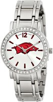 Game Time Women's COL-AS-ARK All Star Stone Bezel Triple Silver Analog Display Japanese Quartz Silver Watch