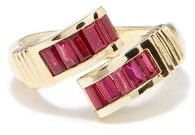 Retrouvaí Wrap Ruby & 14kt Gold Ring - Red