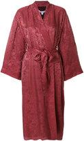 Elizabeth and James bordeaux kimono - women - Silk/Polyester/Spandex/Elastane/Viscose - S