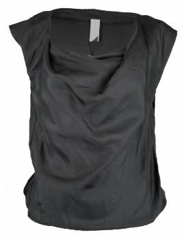 Format LIZZ Black Silk Blouse - S - Black