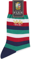 Thomas Pink Lions Stamley striped cotton socks