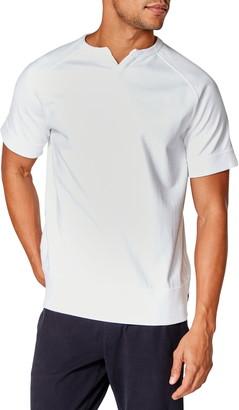 Good Man Brand Varsity V-Notch Short Sleeve Sweatshirt